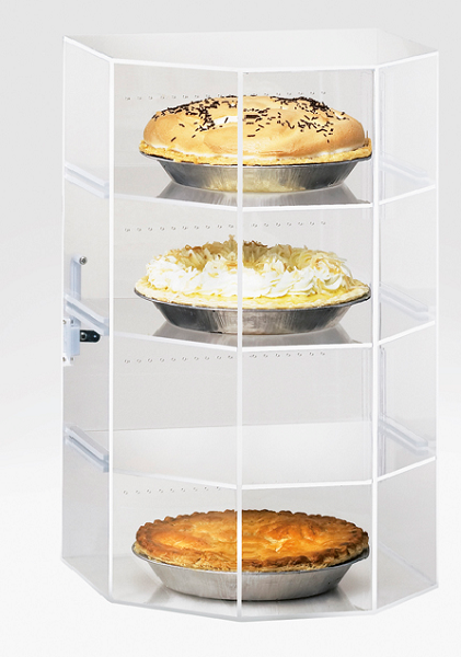 Acrylic 4 Shelf Pie Case
