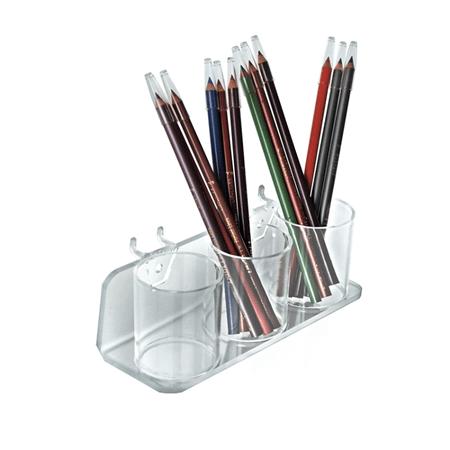 Acrylic Three Cup Display Tray - 2ct