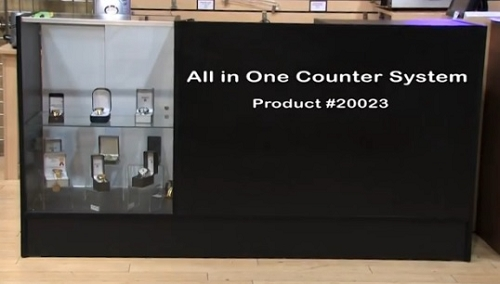All In One Counter System Small Service Counter Retail
