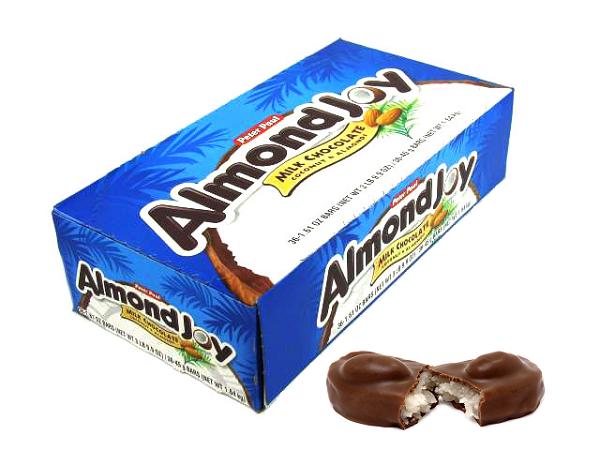 Almond Joy | Wrapped Nostalgic Candy | Popular Fun Novelty Candy