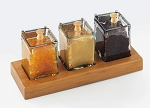 Bamboo Glass Jar Holder