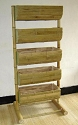 5 Tier Bamboo Bin Display - 24 in. Bins