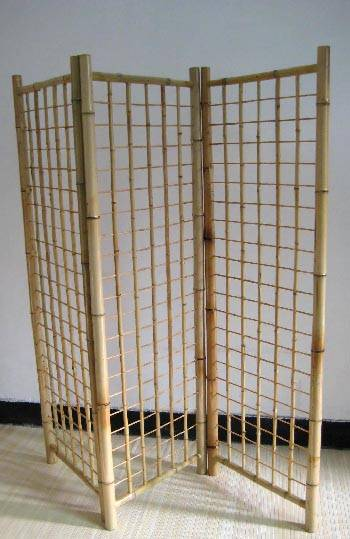 Bamboo Tri Fold Gridwall Panel Stand Bamboo Gridwalls
