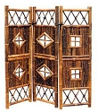 Black Bamboo Screen Divider - 54