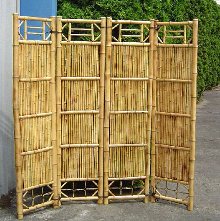 4 Panel Bamboo Screen Divider Store D 233 Cor Wooden Store