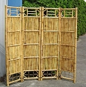 4 Panel Bamboo Screen Divider - 18in. Panels