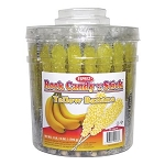 Banana Flavored Rock Candy Tub - 36ct