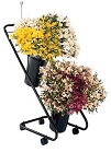 "Mobile Flower Display w/16"" Designer Vases"