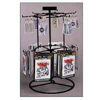 Black 12 Peg  2 Tier Counter Spinner
