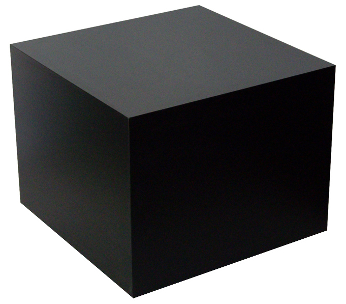 black cube table wooden cube display display tables. Black Bedroom Furniture Sets. Home Design Ideas