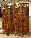 Black Bamboo Screen Divider - 72 in.