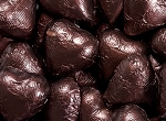 Brown Milk Chocolate Hearts - 10lbs