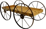 Buckboard Wood Cart Display - Red Cedar