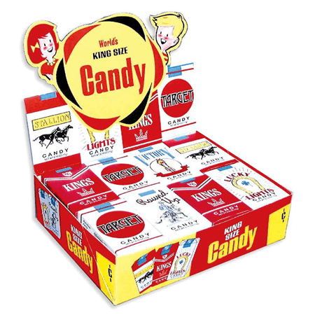 Single Display Box of Candy CIGARETTES