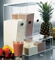 3 Acrylic Food Bins - Topping Dispensers