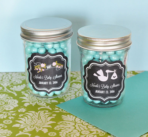 Chalkboard Miniature Mason Jars Baby Shower Gift Ideas