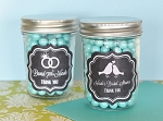 Chalkboard Wedding Mini Glass Mason Jars - 24ct
