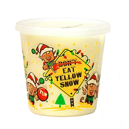 Christmas Yellow Snow Cotton Candy - 18ct