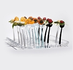 Trio Fork Tray - Holds 25 - Clear Acrylic