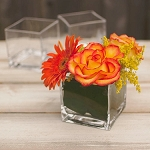 Clear Cube Vase - 4