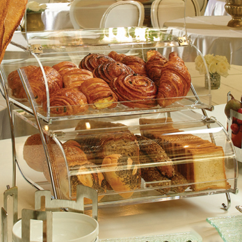 Double Tier Bakery Display For Counter