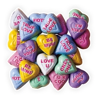 Conversation Hearts Chocolate Flavored - 24lbs