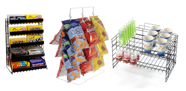 Metal Countertop Candy And Snack Displays
