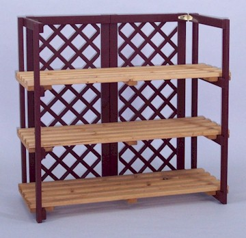 Folding Counter Display Wood Shelf Display Display