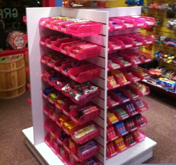 Creative Slatwall Display For Candy