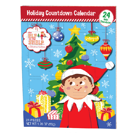 Elf On Shelf Advent CALENDAR  - 12ct