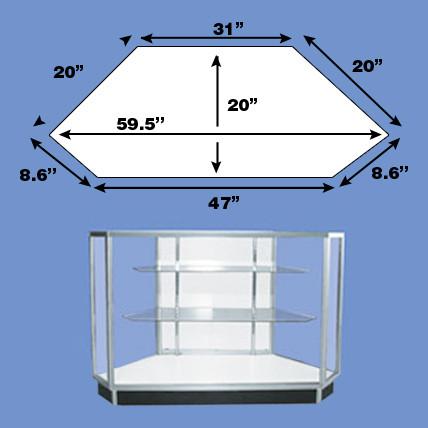 Extra Vision Metal FRAMEd Corner Display Case