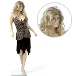 Voluptuous Female Flesh Tone Mannequin - With Wig