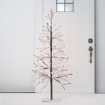 Flocked Snow Lighted Winter Tree - 4ft