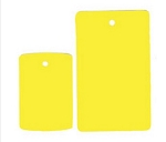 Fluorescent Tags - Yellow - 1000ct