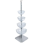 Four-Tier Cascading Bowl Floor Display