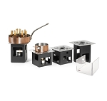 Black Matte Square Warmers Set - 14 Piece