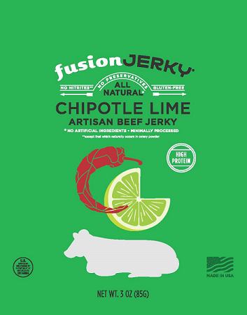 Fusion Beef Jerky Chipotle Lime Flavor | Gourmet Snack Meats