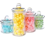 4-Piece Round Glass Canister Set w/Lids