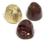 Gold Foil Dark Chocolate Cherry Cordials - 6lbs