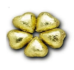 Gold Milk Chocolate Hearts - 10lbs