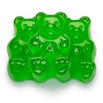 Granny Smith Green Apple Gummi Bears - 5lbs