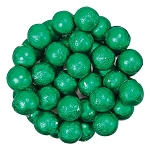 Green Foil Chocolate Balls - 10lbs