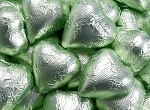 Leaf Green Milk Chocolate Hearts - 10lbs