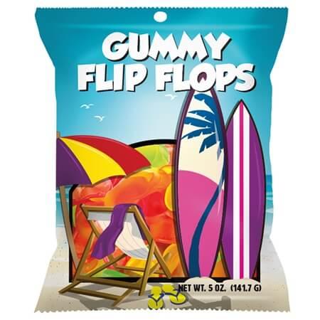 Gummy FLIP FLOPS Peg Bag - 12ct
