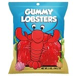 Gummy Lobsters Peg Bag - 12ct