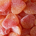 Gummy Sour Peachy Hearts - 6.6lbs
