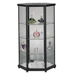 Hexagonal Display Case with Glass Top