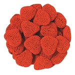 Jelly Belly Raspberry Hearts - 10lbs