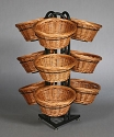Round 9 Basket Willow Display