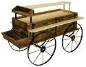 Western Wagon Kiosk - Treated Wood